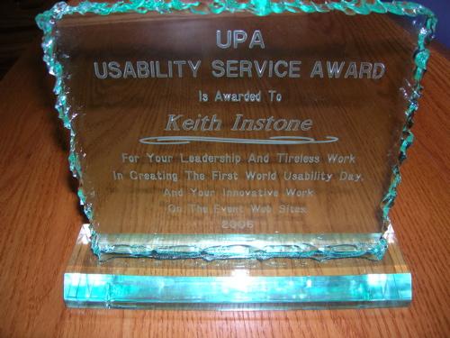 Keith's UPA service award